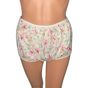 Tamaño adulto Mariposa Rosa Levante Pvc Pañal Pantalones de plástico Incontinencia escritos J190715
