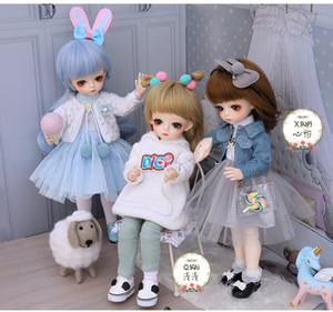 06.01 Mode Kugel BJD Joint Body 30cm Puppen Makeup Kawaii DIY einschließlich Kleidung Schuhe Full Set Spielzeug für Mädchen Puppe