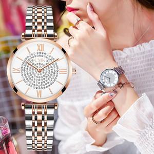Luxueux souffle de bébé en acier apportent femme surface originalité insérer paragraphe diamants montre-bracelet britannique