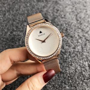 2019 Luxury strass orologi Famosa modo delle donne di lusso del vestito vigilanza di signore di KOR Dial uomo borsa DZ GUESSity pandora Watches0285
