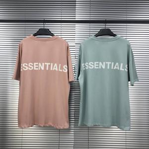 Hommes T-shirt 3M Boxy Essentials à manches courtes T-shirt col rond de mode solide avec 2 couleurs Taille asiatique S-XL