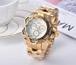 Высокое качество мужчины спортивные кварцевые часы автоматический Швейцария COSC Супер большой циферблат секундомера светящиеся календарь хронограф Мужские кварцевые часы