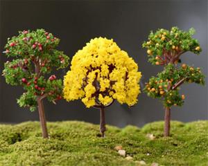 Mikro bahçe manzara için dekorasyon saksı çim mini yapay kiraz ağaçları el sanatları DIY 50 adet / grup da365