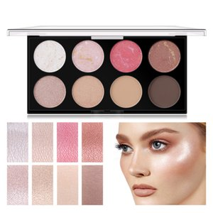 8 Colors Waterproof Non-Blooming Eye Shadow Long Lasting Highlight Shading Powder Pigment Palette Big Eye Makeup Cosmetics TSLM1