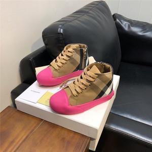 Kids Shoes meninos e meninas de luxo designer sneakers tela respirável tênis de alto-top crianças sapatilhas do desenhista baby girl meninas botas