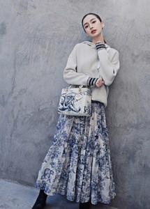 Designer 2020 Black Blue Forest Tiger Print Skirts Womens High End Summer Pleats Women's Skirts yy955