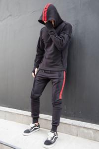 Patchwork Stripe Mens Designer Survêtements Fashion Casual jogging et la course à capuchon 2pc Jeux Hip Hop Hommes Survêtements