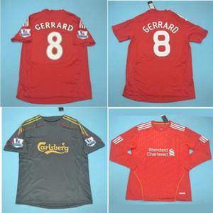 Top 08 09 10 11 12 Gerrard Retro Maillot Alonso Soccer Jersey 2008 2009 TORRES Vintage classique 2010 de football T-shirt de foot KUYT maillot manches courtes