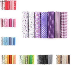 7pcs 25x25cm Mixed Printed Cotton Sewing Quilting Fabrics Basic Quality for Patchwork Needlework DIY Handmade Cloth