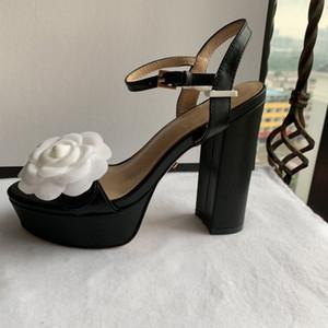 2019 패션 새로운 스타일 여성 플랫 힐 Espadrilles 신발 캐주얼 샌들 가죽 인쇄 BB 플립 플롭 35-42