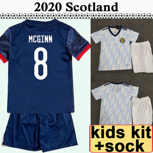 2020 Coupe D'Europe Ecosse enfants Kit Accueil Accueil Maillots de football McGREGOR GRIFFITHS ROBERTSON SHANKLAND FINDLAY McGINN enfant Football chemise