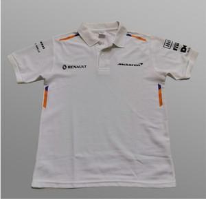 F1 맥라렌 맥라렌 맥라렌 2019 폴리 에스테르 빠른 건조 짧은 소매 폴로 셔츠 옷깃 T 셔츠 경주 정장