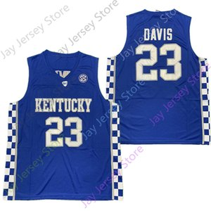 2020 New NCAA Kentucky Wildcats Jerseys 23 Davis College Basketball Jersey Size Youth Adult Blue All Stitched