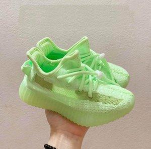 drop shipping Kids Kanye West V2Alien Mist Reflective Designer Toddler Sneakers Clay Beluga Triple Black White Boys Gilrs Shoes