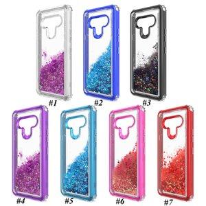 for Samsung A21 A11 A01 A11 A20 Moto G Stylus Shockroof Bumperds Oil Luqid Glitter Phone Case