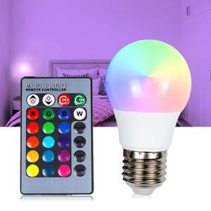 LED RGB Ampoule E27 3W 5W A50 A60 PC Ampoules Avec IR télécommande 220v Lampada 16 CHANGEANT couleur