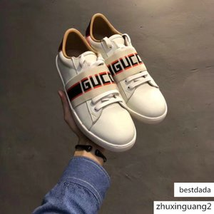 New Men Designers shoes ACE embroidered white tiger bee snake shoes Genuine Leather Designers Mens Women Casual Shoes