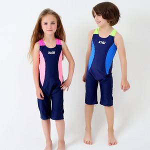 Çocuk Spor Mayo Tek Parça Erkek Professiona Kızlar Mayolar Çocuk Mayo Bebek Yüzme Suit Çocuk Plaj Kıyafeti