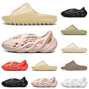 Kanye West Desert Sand Resin Slipper Triple White Black Earth Brown Designer Shoes Foam Runner Men Women Sandals Size 5-11 Wholesale