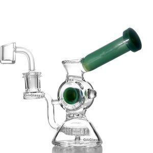 Drôle jade recycleur rose bong beau verre de forage dab bangs eau tube Vortex Heady huile Rigs Creative haut tuyaux Quailty Belle narguilés