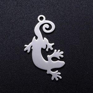 5шт / серия Уникально Lizard нержавеющей стали DIY Подвески Оптовая Никогда Tarnish изготовления ювелирных изделий шарма ювелирные изделия находя Supplies
