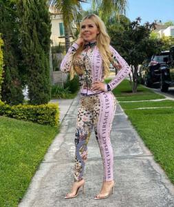 El más nuevo estilo atractivo de la chaqueta de las mujeres de múltiples chándales y camisetas Pantalones Trajes de mujeres Traje de dos piezas Set Sportwear mujer de los deportes S-XXL