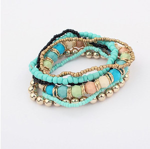 New Fashion Ocean Style Multcolor Bracelet Sets   Bracelet Jewelry For women Free shipping