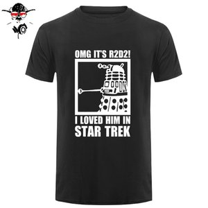 New Summer Funny Tee OMG It's R2D2 Dalek Dr Who Cotton T Shirt for men