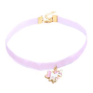 Halskette für mädchen kinder kinder emaille cartoon schmuck frauen tier spitze choker halskette anhänger partei c18122501