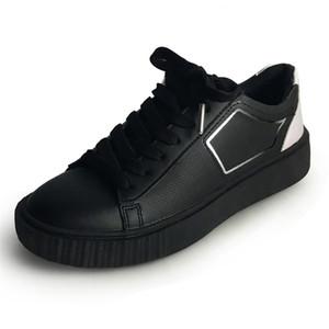 أحذية اليدوية أزياء المرأة أحذية رياضية أسود أبيض اللون أنثى بو الجلود أحذية الشقق عارضة