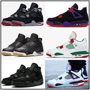 Tattoo Jumpman 4 4s Mens women Kids Basketball Shoes Raptors White Cement Alternate Motorsport bred 4 Pale Citron Sneakers Sports Shoes