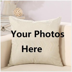 여기에 인쇄 애완 동물 웨딩 개인 생활 사진을 사용자 정의 선물 홈 쿠션 커버 베개 커버 16 * 16 인치 45 * 45cm 사용자 정의 소파 베개 사진
