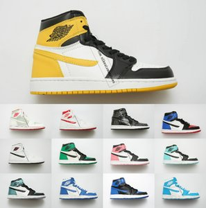 Haute Qualité 1 OG top 1s Bred Toe Chicago Banni Jeu Royal Chaussures De Basket-ball Hommes Femmes 1s Shattered Backboard Shadow Multicolor Sneaker36-46