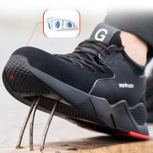 Männlich Stahlkappe Arbeitssicherheitsschuhe Camouflage Herren Boots atmungsaktiv Outdoor Casual Sneaker Anti-Smashing Piercing Arbeitssicherheit