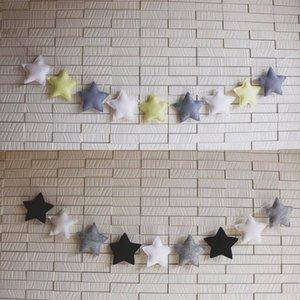 Nordic Estilo Estrelas Handmade Garland Christmas Child Room Decor Madeira frisada bandeira Nursery Decor Os melhores presentes