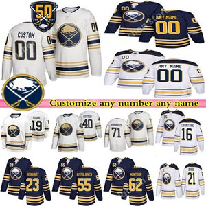 Custom Men's Kids Womans Buffalo Sabres jerseys 9 Jack Eichel 26 Dahlin 53 Skinner RISTOLAINEN custom any number any name hockey jersey
