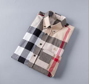 Camicie Moda uomo Camicie maniche lunghe tinta unita casual 2019 Inverno Nuova camicetta Colletto alla coreana sottile Soprabito da teenager 5398