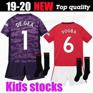 FC Manchester DE GEA POGBA soccer jersey 2019 2020 LINGARD LUKAKU RASHFORD football shirt UniTEd UtD 19 20 man jerseys Kids kit uniforms