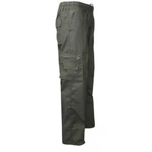 HEFLASHOR 2019 Autumn Plus Size Men pantalones tácticos Casual Multi Pocket Sweatpant Pantalones Moda Elástico de la cintura suelta Pantalón de carga