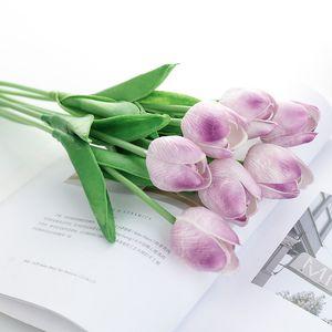 100шт 30см Real сенсорный PU Тюльпан Искусственные цветы для свадьбы День рождения украшения Цветочная композиция Flores artificiales