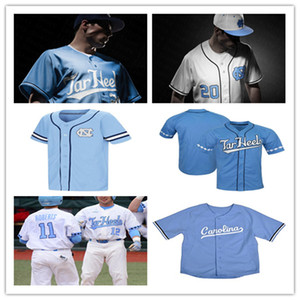 Custom 2020 UNC North Carolina Tar Heels Baseball Jerseys CARTER FOSTER CARSON JOHNSON JOSH HANEY PATRICK WHEELER Austin Love Ashton McGee