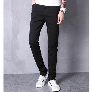 LEFT ROM 2019 Fashion Boutique estiramento Mens Casual jeans skinny jeans homens heterossexuais jeans mens / calças Masculino estiramento calças
