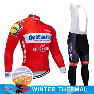 Deceuninck fleece Jersey invierno cálido traje de ciclismo uniforme del equipo equipo de carreras