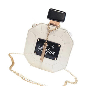 Parfümflasche Patten Min Runde Form PU Reißverschluss Schulter Cross Body Bag 4 Farben Größe 15cmx15cmx7cm