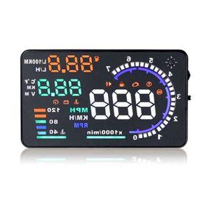 "5.5"" HUD Car Head Up Display LED Windscreen Projector OBD2 Scanner Speed Warning Fuel Consumption Data Diagnostic"