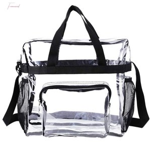 Transparent Tote Bag Stadium Security Travel And Gym Clear Bag, See Through Tote Bag For Work, Sports Games And Concerts