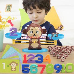 Cat Balancing Math Game Board Brinquedos Macaco Escala Número Balance Iluminismo Digital Adição e subtração de matemática Escalas Brinquedos