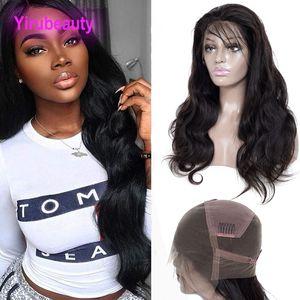 Peruanische Körperwelle Spitze Perücken vorgepftet 8-34inch Volle Spitze Perücken Körperwelle Jungfrau Haarpflegemittel Yiruhair Lace Perücke