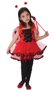 Shanghai Story Kids Halloween Cosplay Прекрасная Bee фея Костюм Девочки Костюм для девочек LadyBug Сказочные костюмы для детей