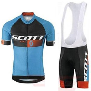2020 Скотт Rc Короткие рукава Велоспорт Джерси 9d Gel Pad Bib наборы Велосипед Одежда Спортивные Велосипед Одежда Mtb Cycle Wear Майо Ropa